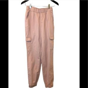 H&M DIVIDED cargo jogger pants light pink size 4